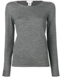 Jersey con cuello circular gris de Le Tricot Perugia