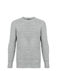 Jersey con cuello circular gris de Loveless