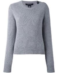 Jersey con cuello circular gris de Marc Jacobs