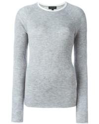 Jersey con cuello circular gris de Rag & Bone