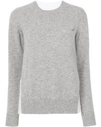 Jersey con cuello circular gris de Sacai