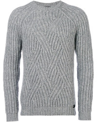 Jersey con cuello circular gris de Tod's