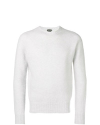 Jersey con cuello circular gris de Tom Ford
