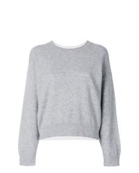Jersey con cuello circular gris de Vince