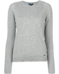 Jersey con cuello circular gris de Woolrich