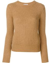 Jersey con cuello circular marrón claro de Dondup