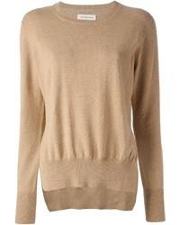 Jersey con cuello circular marrón claro de Etoile Isabel Marant