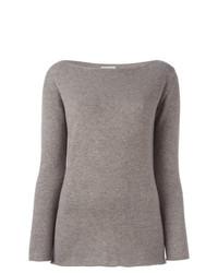 Jersey con cuello circular marrón claro de Fashion Clinic Timeless