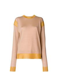 Jersey con cuello circular marrón claro de Sonia Rykiel