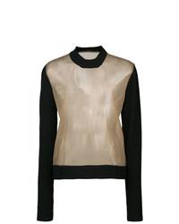 Jersey con cuello circular marrón claro de Uma Wang