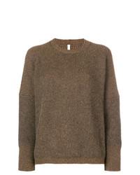 Jersey con cuello circular marrón de Boboutic