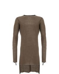 Jersey con cuello circular marrón de Cedric Jacquemyn