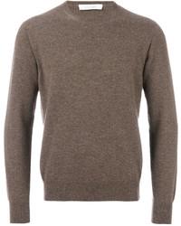Jersey con cuello circular marrón de Cruciani
