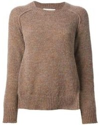 Jersey con cuello circular marrón de Etoile Isabel Marant
