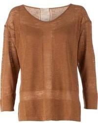 Jersey con cuello circular marrón