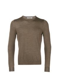 Jersey con cuello circular marrón de La Fileria For D'aniello