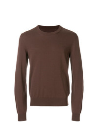 Jersey con cuello circular marrón de Maison Margiela