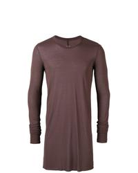 Jersey con cuello circular marrón de Rick Owens