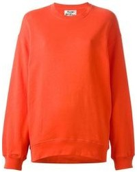Jersey con cuello circular naranja de Acne Studios