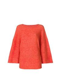Jersey con cuello circular naranja de By Malene Birger