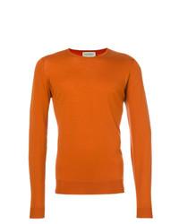 Jersey con cuello circular naranja de John Smedley