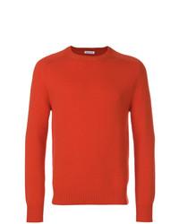 Jersey con cuello circular naranja de Tomas Maier