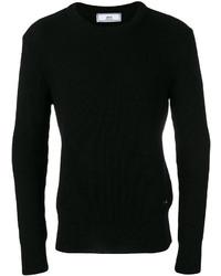 Jersey con cuello circular negro de AMI Alexandre Mattiussi