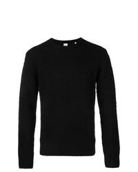 Jersey con cuello circular negro de Aspesi