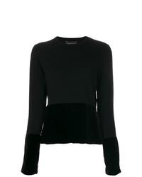 Jersey con cuello circular negro de Cashmere In Love