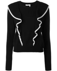 Jersey con cuello circular negro de Chloé