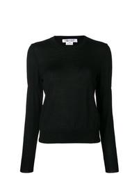 Jersey con cuello circular negro de Comme Des Garcons Comme Des Garcons
