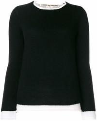 Jersey con cuello circular negro de Comme des Garcons