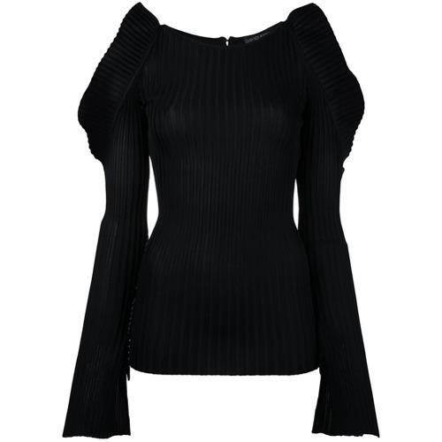 Jersey con cuello circular negro de David Koma