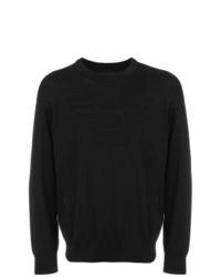 Jersey con cuello circular negro de Emporio Armani