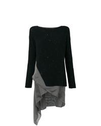 Jersey con cuello circular negro de Fabiana Filippi