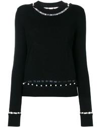 Jersey con cuello circular negro de Givenchy