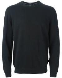 Jersey con cuello circular negro de Hugo Boss