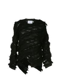 Jersey con cuello circular negro de Koché