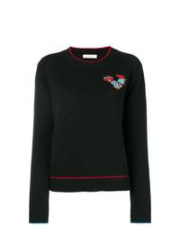 Jersey con cuello circular negro de La Doublej