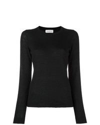 Jersey con cuello circular negro de Le Kasha