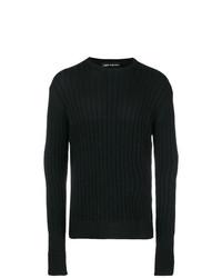 Jersey con cuello circular negro de Neil Barrett
