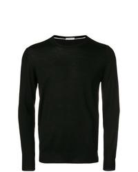 Jersey con cuello circular negro de Paolo Pecora