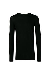 Jersey con cuello circular negro de Rick Owens