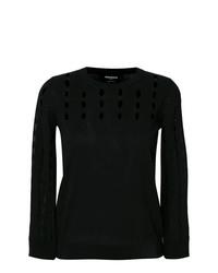 Jersey con cuello circular negro de Rochas