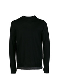 Jersey con cuello circular negro de Sacai