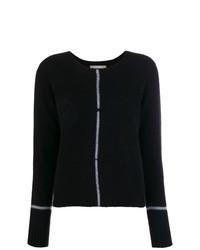 Jersey con cuello circular negro de Suzusan