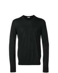 Jersey con cuello circular negro de Versace Collection