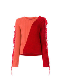 Jersey con cuello circular сon flecos rojo de Maison Margiela