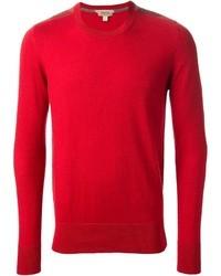 Jersey con cuello circular rojo