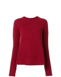 Jersey con cuello circular rojo de Aspesi
